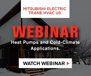Mitsubishi Electric Trane HVAC US Webinar: Heat Pumps and Cold Climate Applications