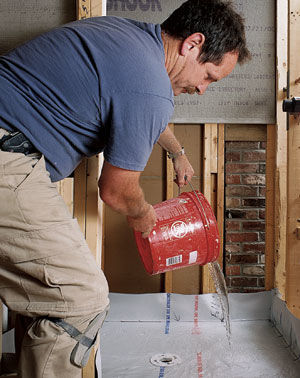 How To Install A Tile Shower Floor Fine Homebuilding