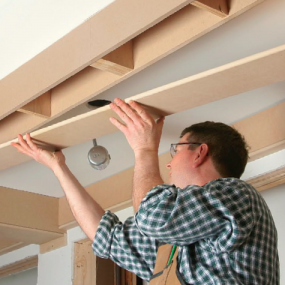 how to build a box beam coffered ceilng