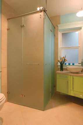 Angling for accessibility: Shower open