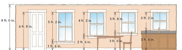 Although Not Essential Setting The Heads Of Windows And Doors At Same Height Provides A Pleasant Consistency To Room On