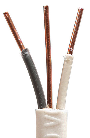 Whats the difference nonmetallic sheathed cable fine homebuilding wire sizes 142 with ground nm in a white sheathing is 14 awg suitable for 15 amp circuits keyboard keysfo Choice Image