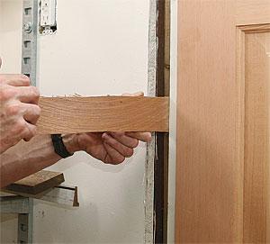 Adjust the latch jamb.