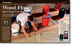 Installing Engineered Flooring on a Concrete Slab