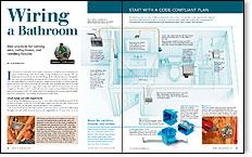 Master Carpenter: How to Wire a Bathroom - Fine Homebuilding | Bathroom Wiring Plan |  | Fine Homebuilding
