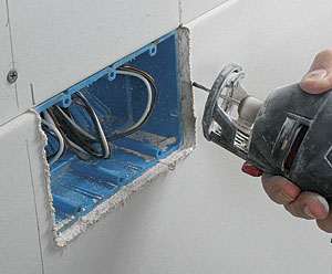 Using a Drywall Router