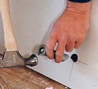 Punching holes for plumbing