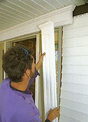 Putting trim on the front door