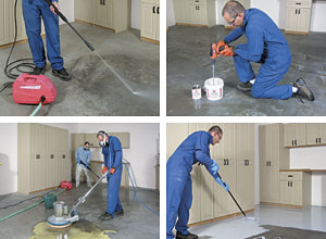 This Excerpt From The Taunton Book Garage Solutions Shows How To Ly A Tough Epoxy Coating High Traffic Area For Clean Durable And Light Filled