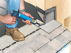 Installing Step Flashing To Prevent Roof Leaks Fine
