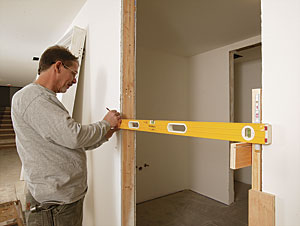 How to make a door jamb hinge template