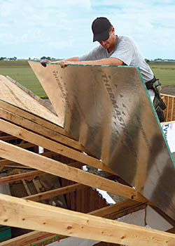 Roof Sheathing Silver Side Down Fine Homebuilding