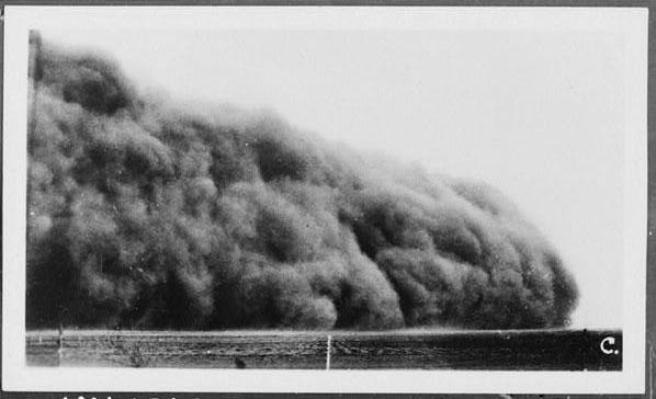 Black blizzard - dust bowl dust storm